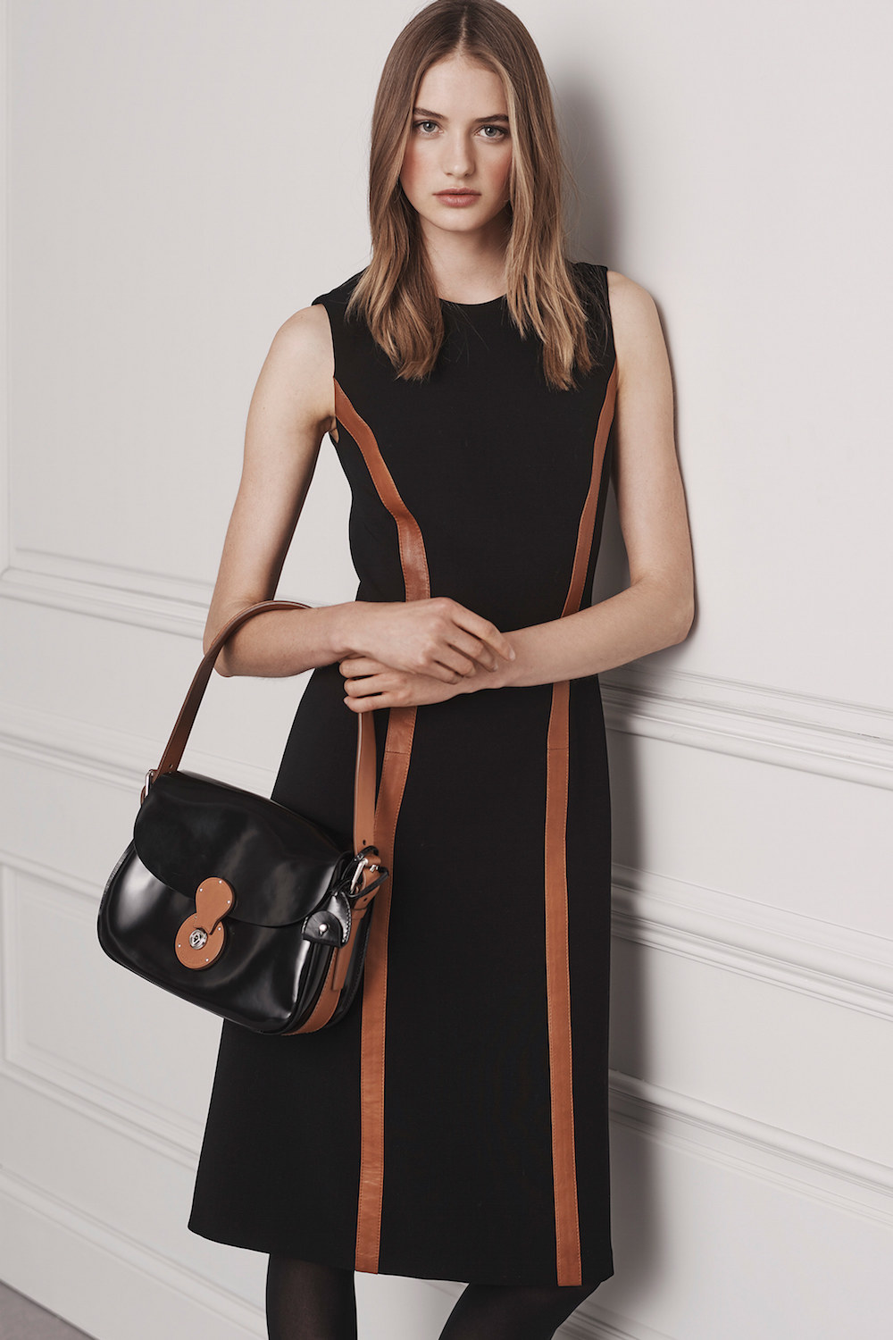black dress from ralph-lauren-pre-fall-2016-lookbook-22