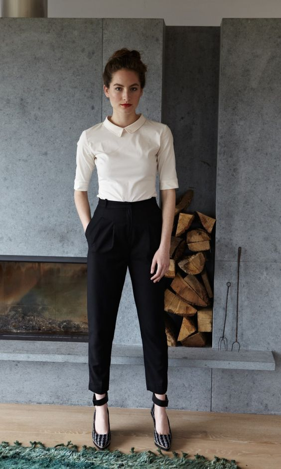 elegant lady wearing beautiful outfit for office