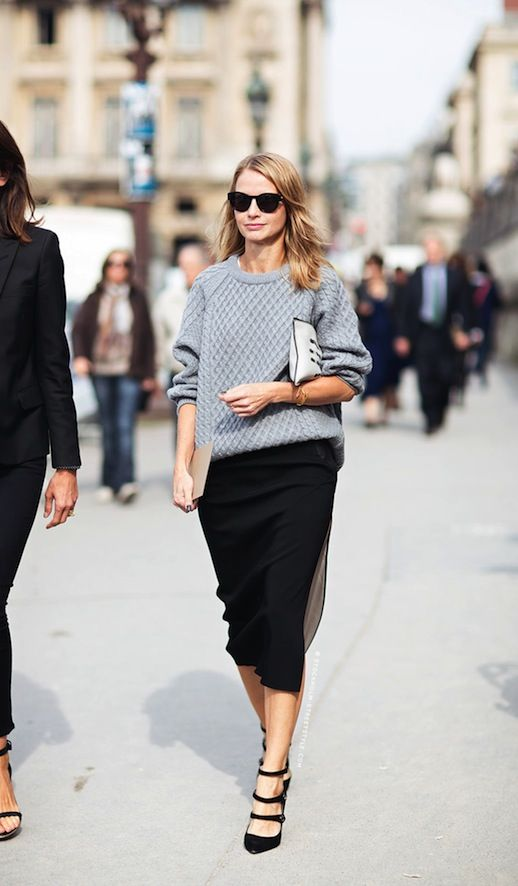 grey sweater for office