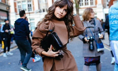 miroslava duma in an outfit for spring