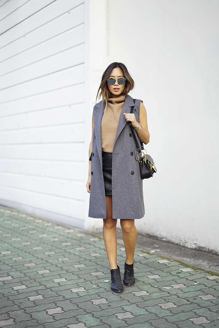 casual leather skirt