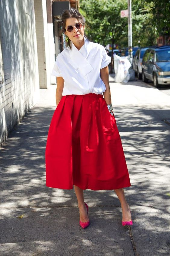 Leandra wearing white shirt for summer office