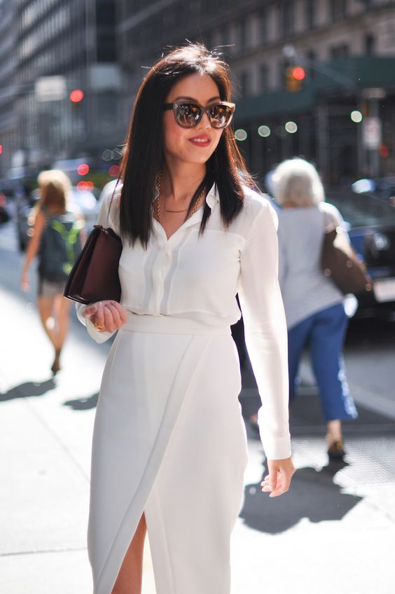 elegant all white outfit